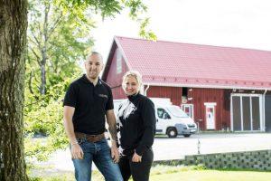 Våra champinjoner kommer från Östragärde Gård